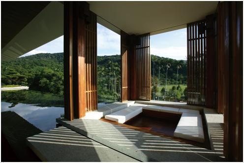 鄉林士林官邸中每層錯落的Tea House及鏡面水池,是台灣「非典型商辦」建築的...