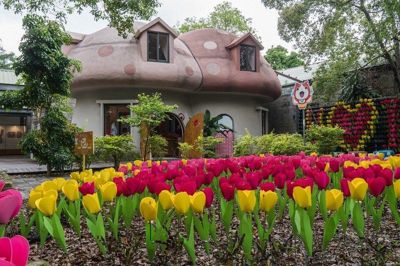 動漫園區最受歡迎的「蘑菇屋」