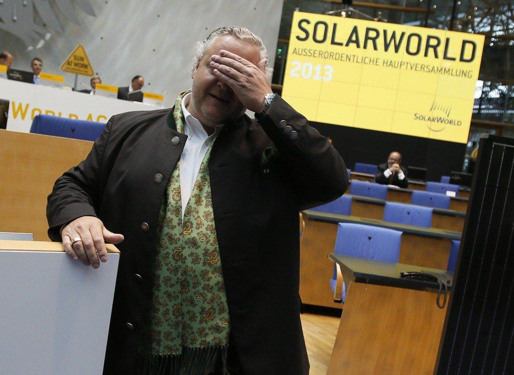 德國SolarWorld太陽能公司聲請破產,圖為執行長阿斯貝克。(路透)