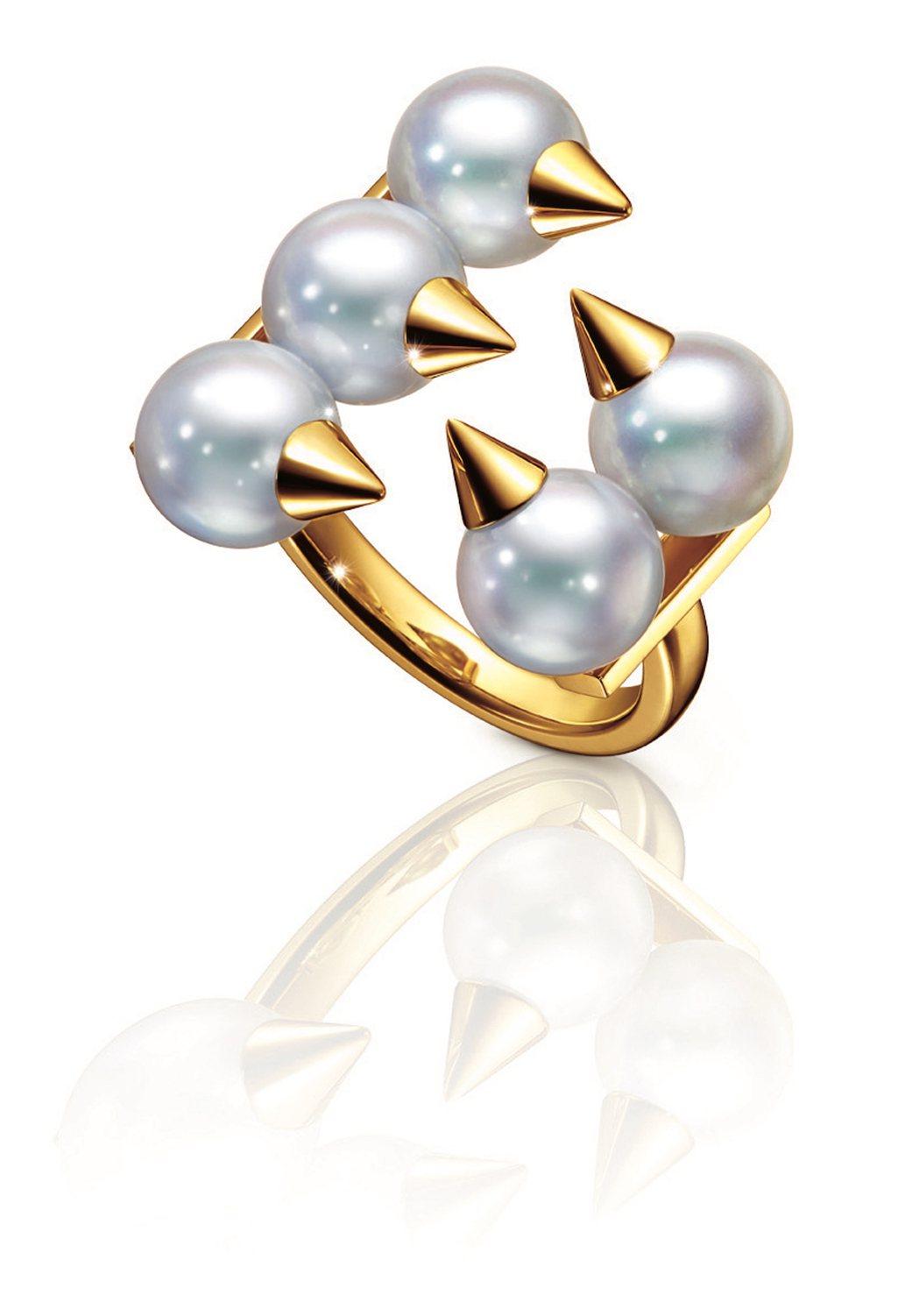 TASAKI danger plus珍珠黃K金戒指,70,500元。圖/TASA...