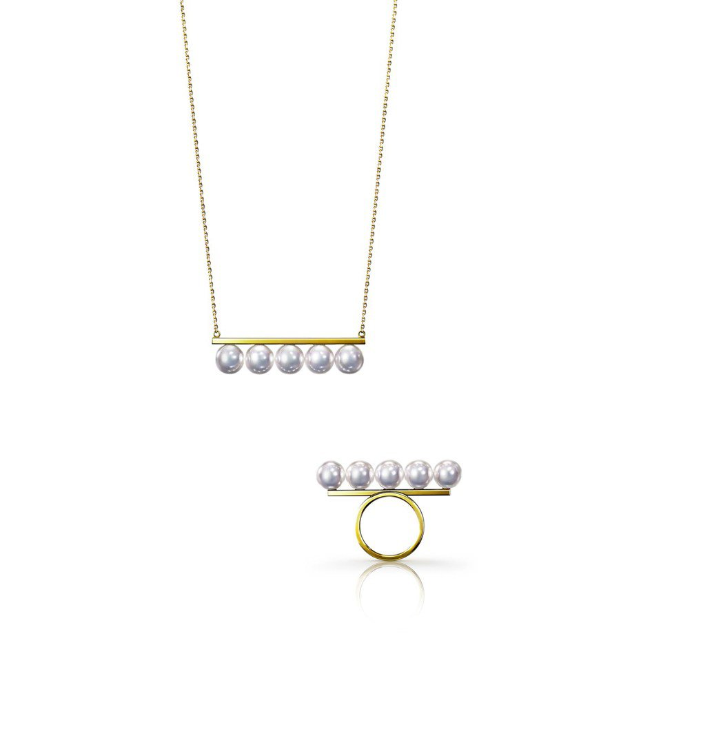 TASAKI balance signature珍珠黃K金項鍊13萬3,000元...