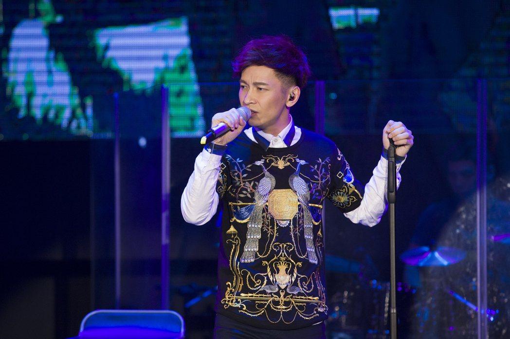 張智成12日在台北開唱。圖/海蝶提供