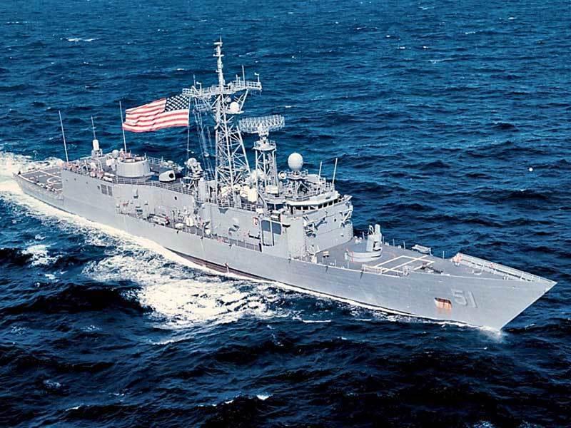 我國對美採購由派里級蓋瑞號(USS Taylor)改名為逢甲軍艦。 圖/美國海軍...
