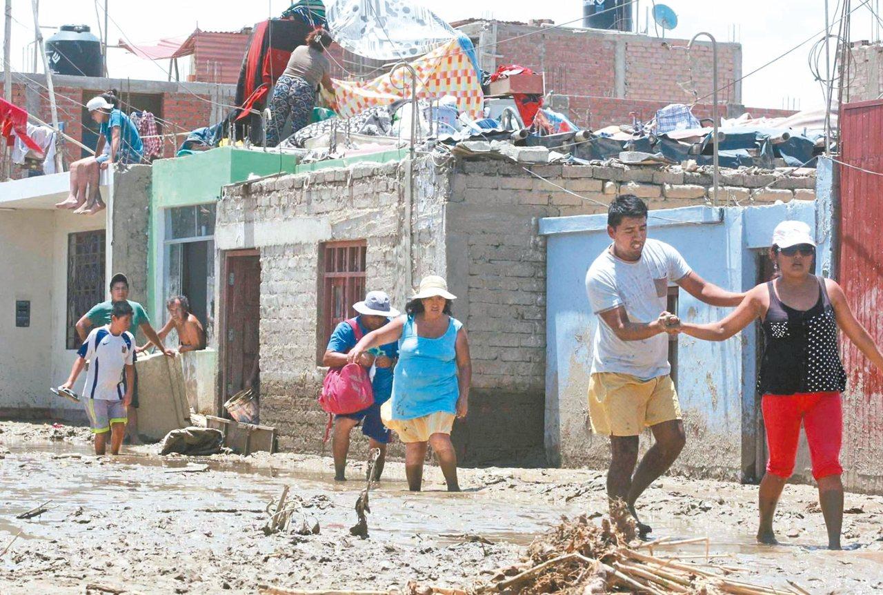 秘魯利馬北邊地區3月間發生大水災,目前仍恢復中。 圖/Oriental Maga...