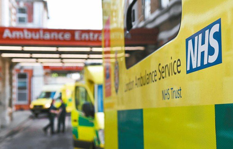 英國國健署(NHS)。 歐新社