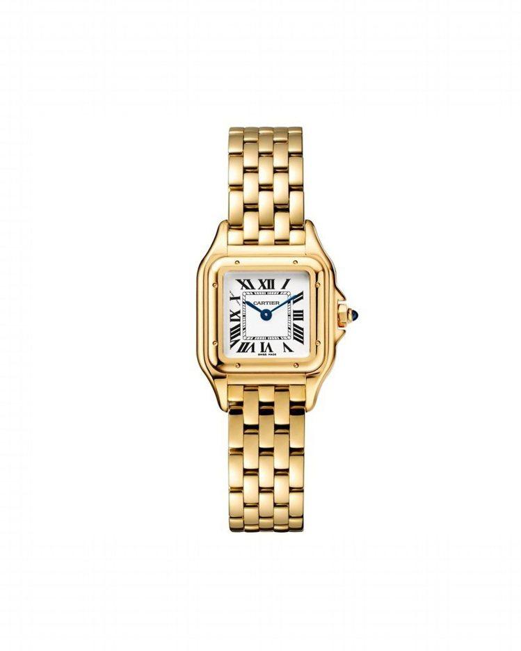 卡地亞Panthère de Cartier美洲豹玫瑰金鑽石腕表(小型款),表圈...