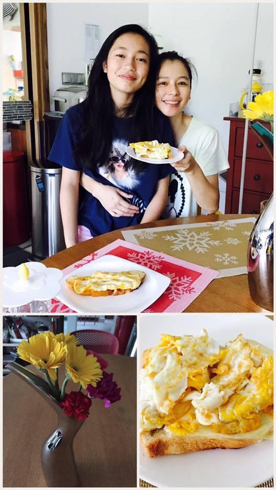 徐若瑄將老公的女兒視如己出,「母女」關係親密。圖/摘自徐若瑄臉書