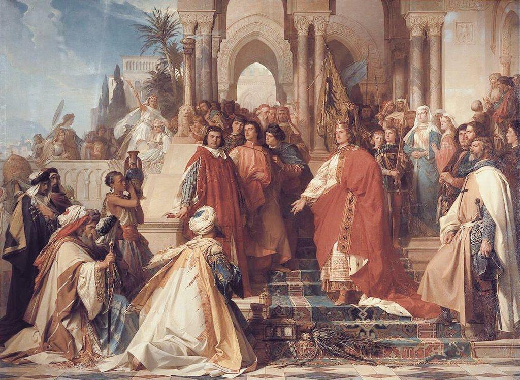 神聖羅馬帝國的皇帝腓特烈二世,積極吸納伊斯蘭學者與學術書籍,開創出中世紀歐洲最為...