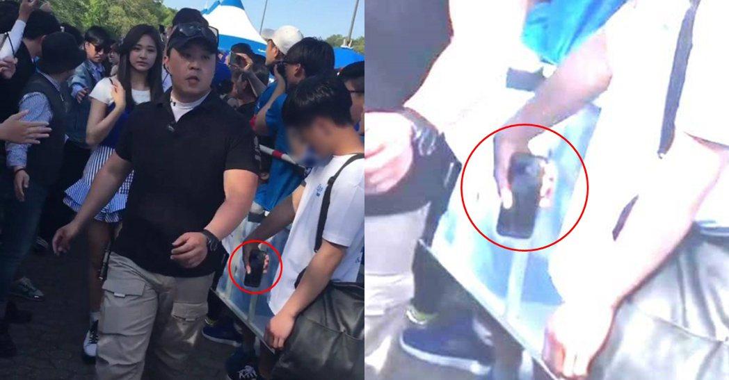 子瑜遭偷拍的影片在網路上瘋傳。 圖/擷自韓網。