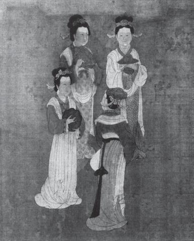 宋朝佚名「四美圖」上的女性。
