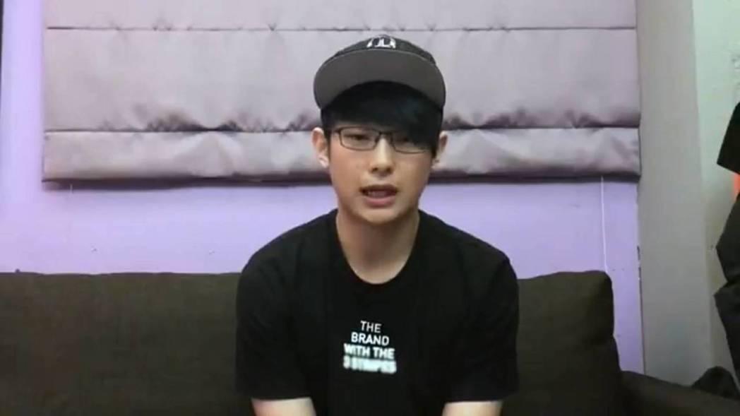 老田在影片中明顯消瘦。圖/摘自youtube