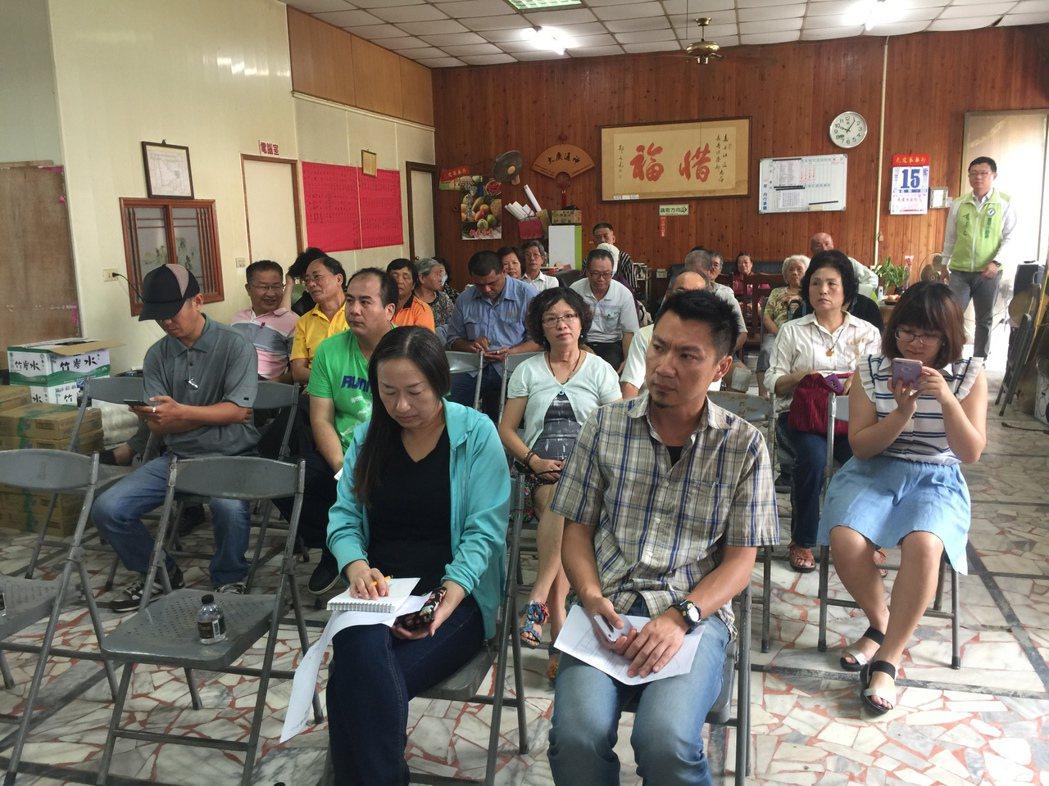 台南市議員李退之舉行新營客轉專區地主權益公聽會。 記者吳政修/攝影