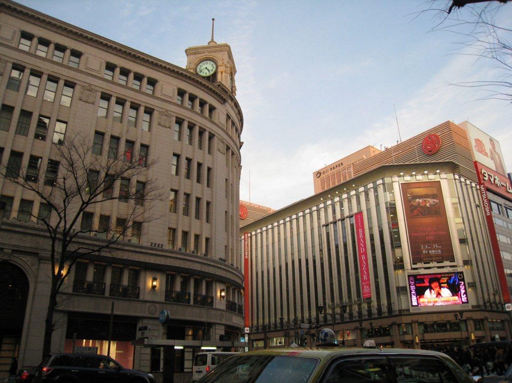 銀座是日本首屈一指的購物區。圖/復興航空提供