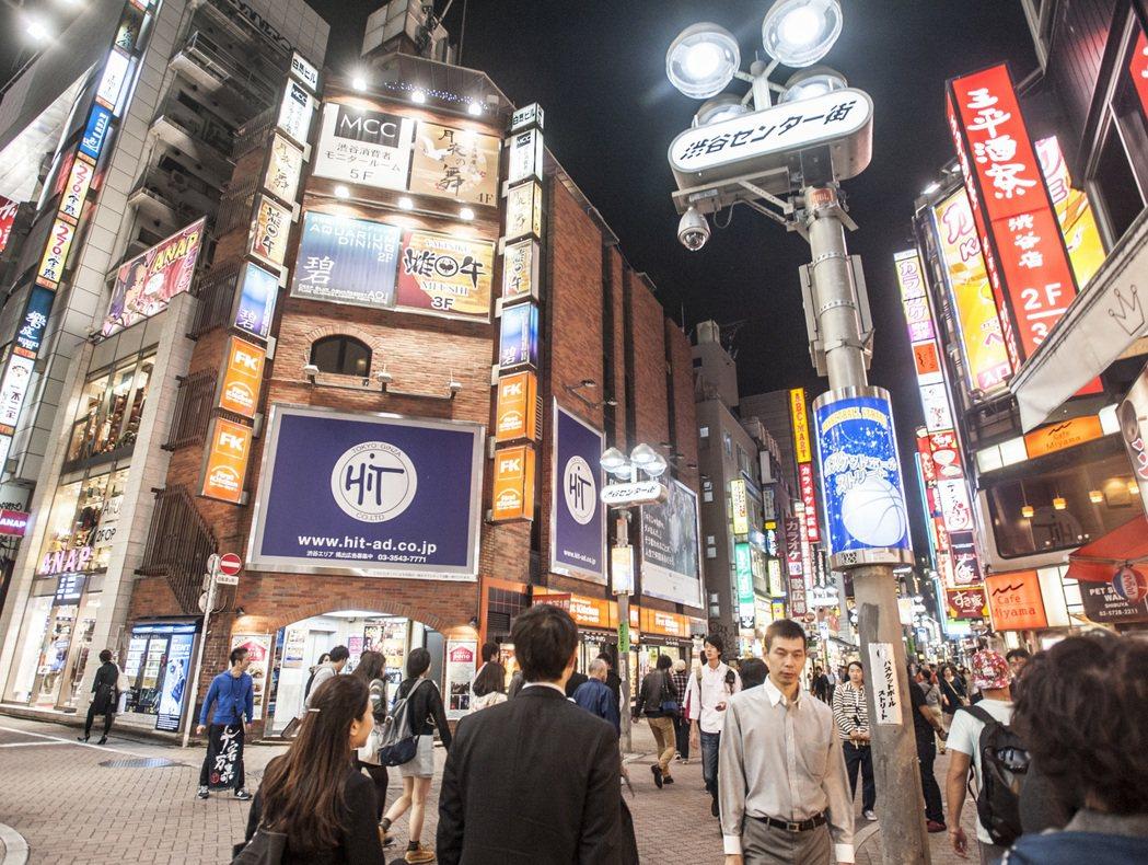 澀谷車站旁。記者楊萬雲/攝影