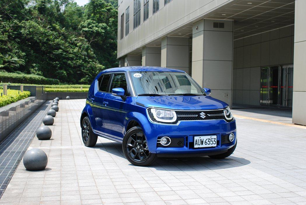 Suzuki Ignis 的正面車頭相當吸睛,充滿年輕動感氛圍。 記者林鼎智/攝影