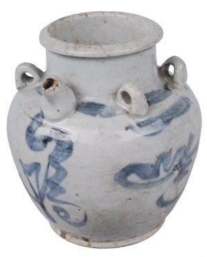 青花文字茶籽油罐(罌仔)。圖/國立臺灣歷史博物館蒐藏品
