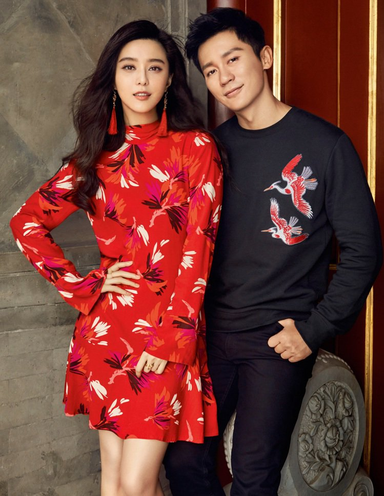 范冰冰和李晨曾合拍廣告,大秀恩愛。圖/H&M提供