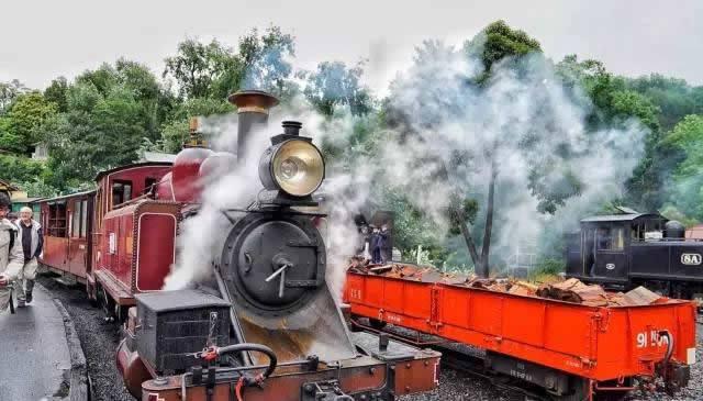 普芬古董蒸汽火車。圖/澳洲維多利亞州旅遊局提供