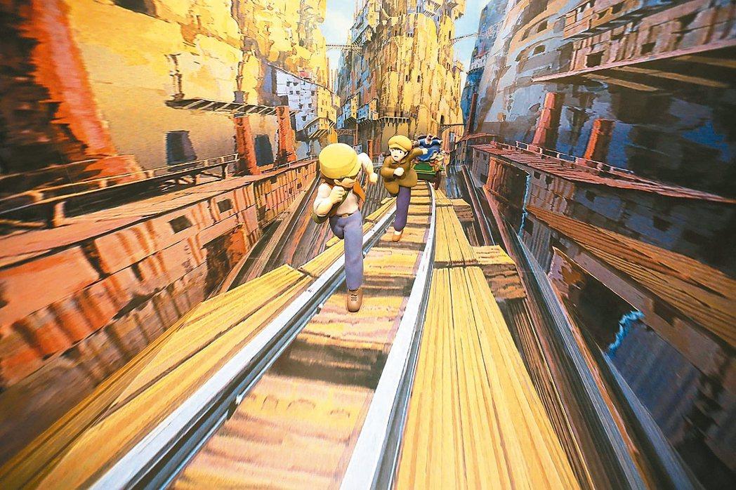 「吉卜力的動畫世界」特展的經典場景「天空之城」。 圖/聯合數位文創提供