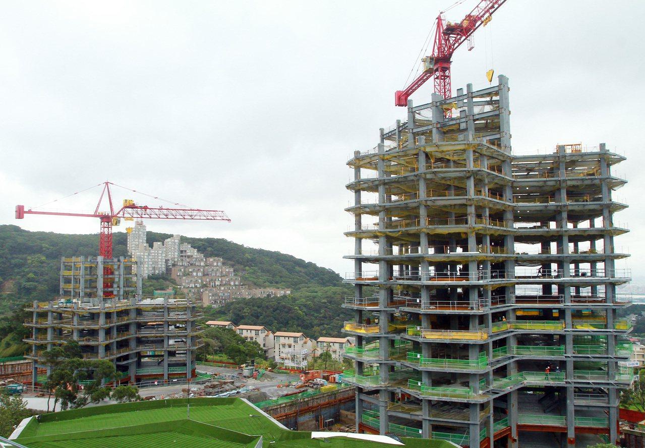 政院日前通過大陸人士購買淡水小坪頂萬通2011建案。 聯合報系資料照