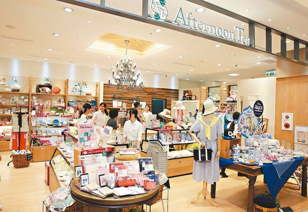 Afternoon Tea在SOGO百貨的門市業績表現穩定。