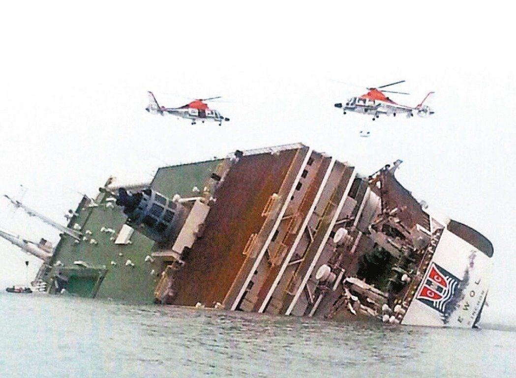 2014年世越號船難造成多人不幸喪生。 圖/美聯社