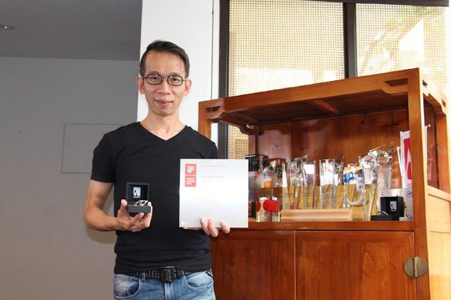 許盛鑫校友的設計實力已被國際評審肯定 大葉大學/提供