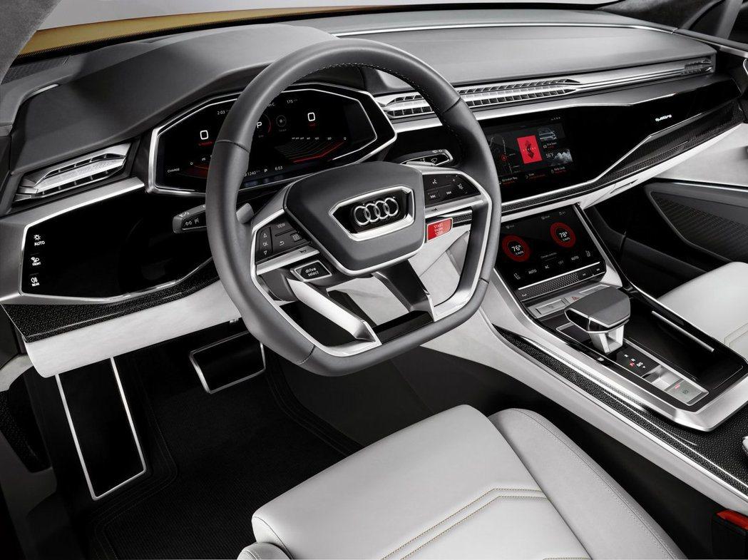 Audi Q8 Sport Concept與Google合作,搭載Android...