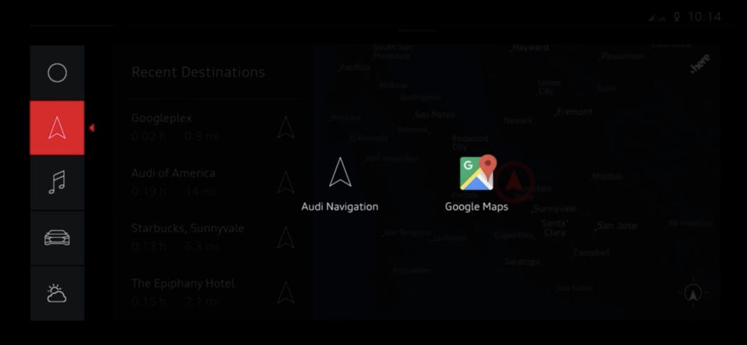 導航可選擇Audi內建的或是Google Map。圖/摘自YouTube