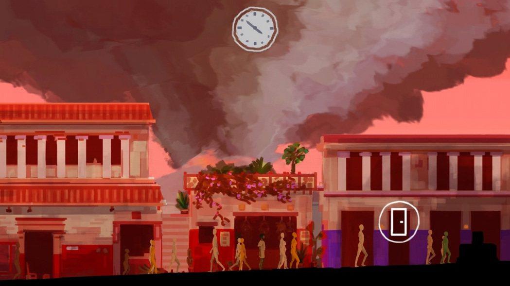 火山爆炸當天的龐貝城