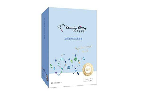 我的美麗日記 玻尿酸極效保濕面膜,23ml/片 8片/盒 $250。圖/Beau...