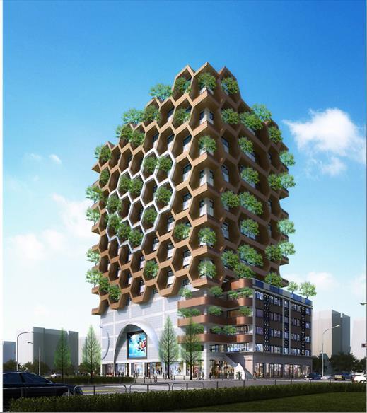 都發局規劃的千越綠川大樓都市更新方案,要重新打造綠建築。記者喻文玟/攝影