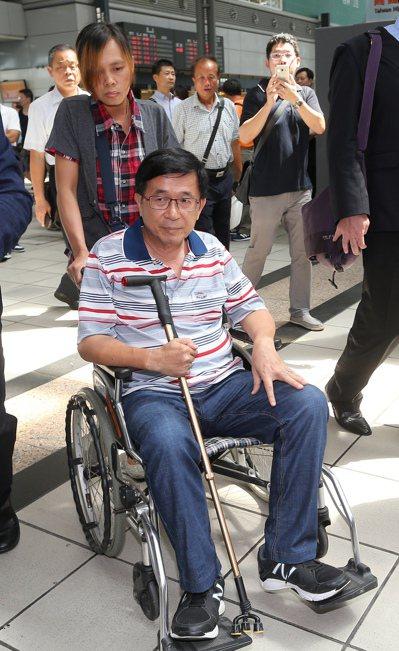 陳水扁去年北上參加凱達格蘭學校餐會,精神顯得不錯。 本報資料照片