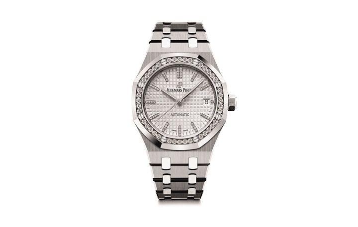 皇家橡樹系列37毫米女皇盃2017限量版自動上鍊腕表,表圈鑲飾40顆鑽石,60小...