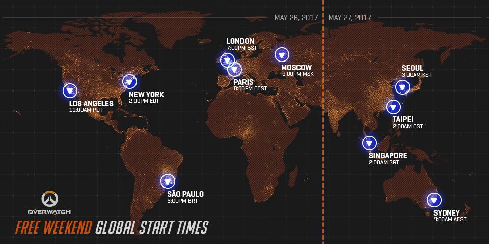 《鬥陣特攻》將於台灣時間5/27~30開放玩家免費暢玩。