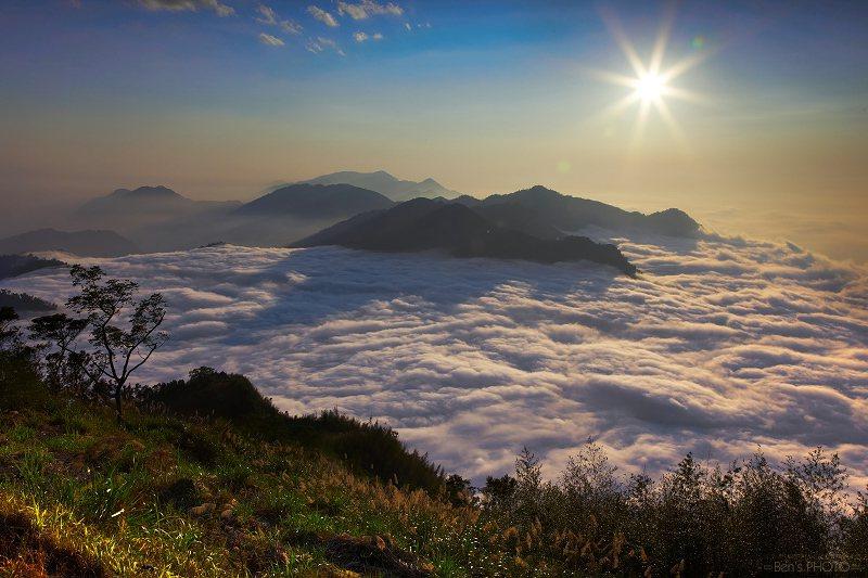 阿里山公路隙頂雲海。圖/摘自 Ben Cheng Flickr