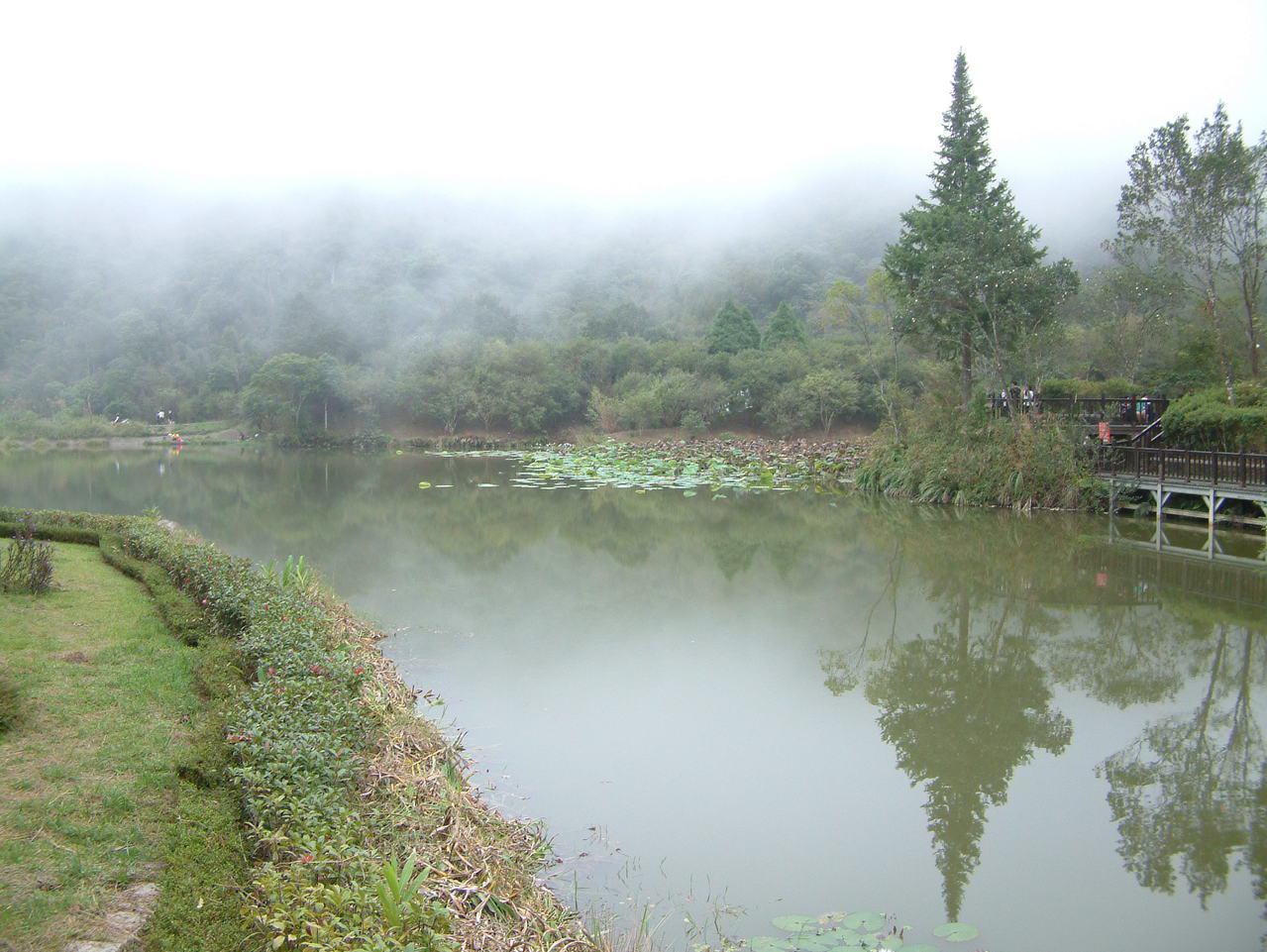 苗栗縣南庄鄉優美的向天湖是代表性景點之一。記者翁浩然/攝影