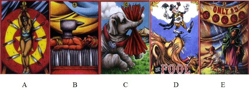 請憑直覺選擇一張牌。 圖/小孟提供