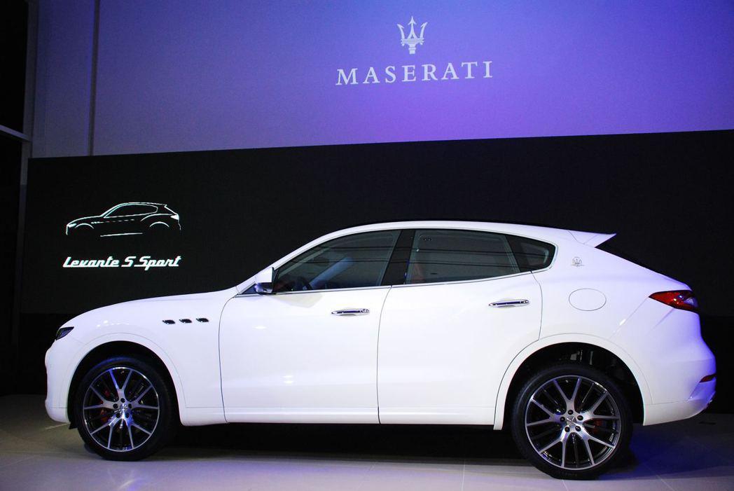 Maserati Levante S Sport有著流線的外觀,風阻係數為同級車最低Cx=0.31。圖/記者林昱丞攝影