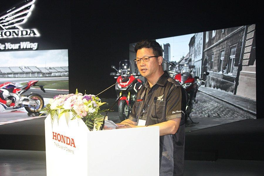 HONDA二輪事業部部長胡秋斌。 記者林和謙/攝影