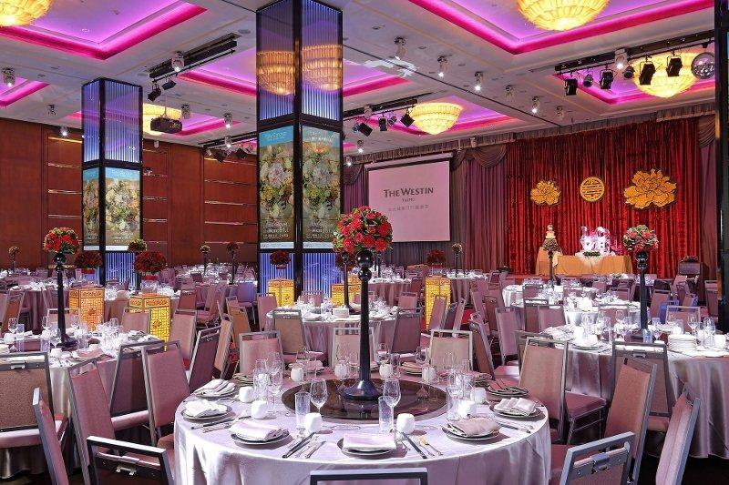 台北威斯汀六福皇宮的謝師宴,不論中、西式,均加贈迎賓無酒精雞尾酒、爆米花,還有汽...