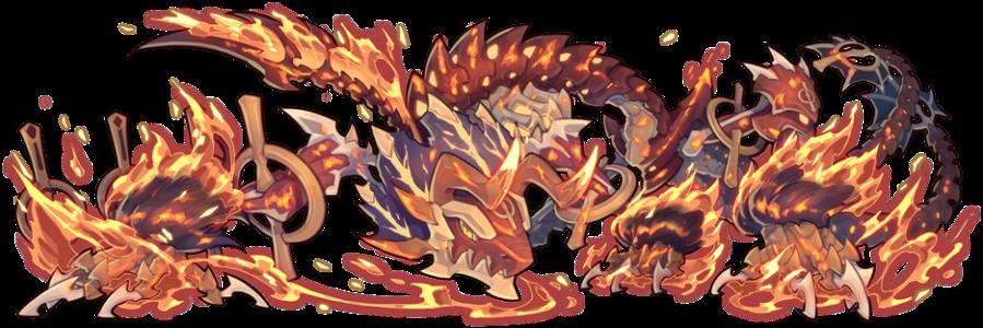 盤踞於夢境的龍型魔物─炎獄崩神˙葛羅拜契,將以熾熱火焰包圍進犯之人。