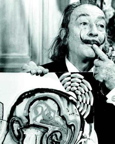 大畫家達利曾登上諾曼底號。 圖/本報資料照,美聯社