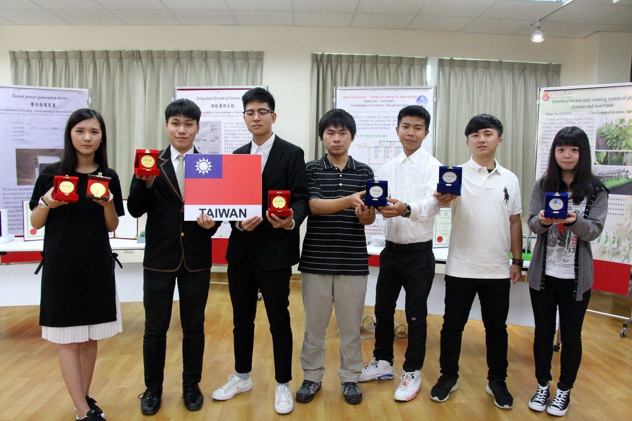 台東專科學校6組師生團隊到馬來西亞參加第28屆ITEX國際發明創新科技展,拿下3...