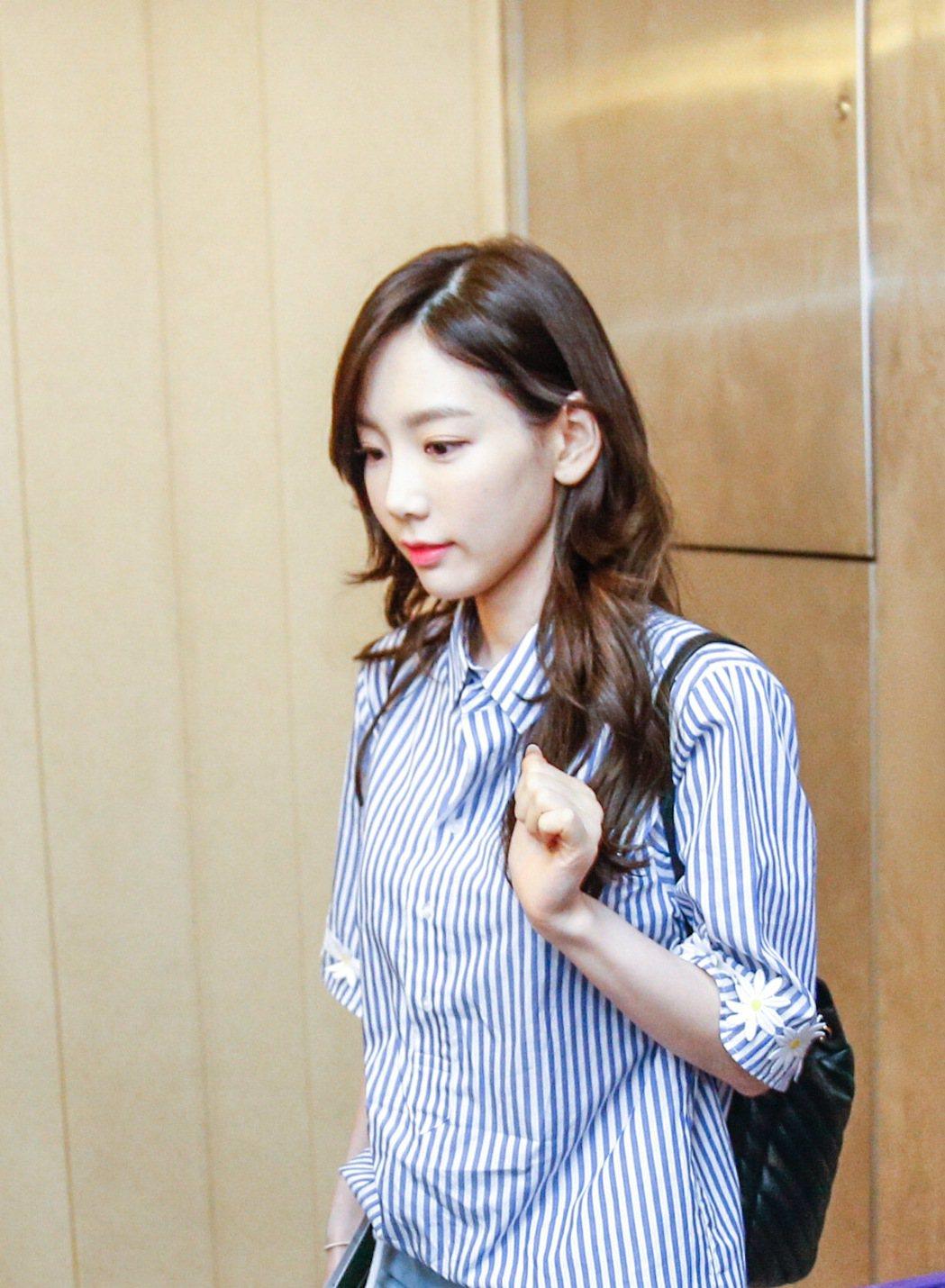 「少女時代」太妍傍晚抵達桃園機場。記者鄭超文/攝影