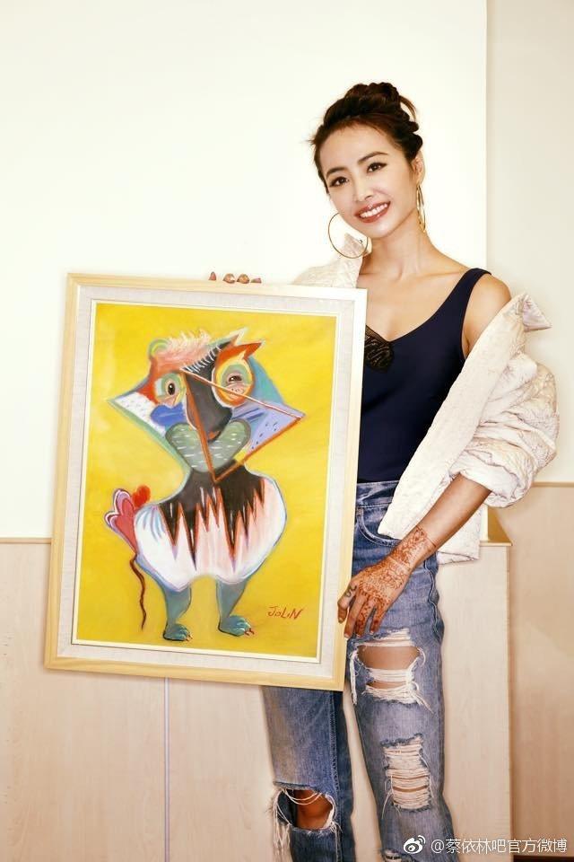 蔡依林的畫作「你」。圖/摘自微博