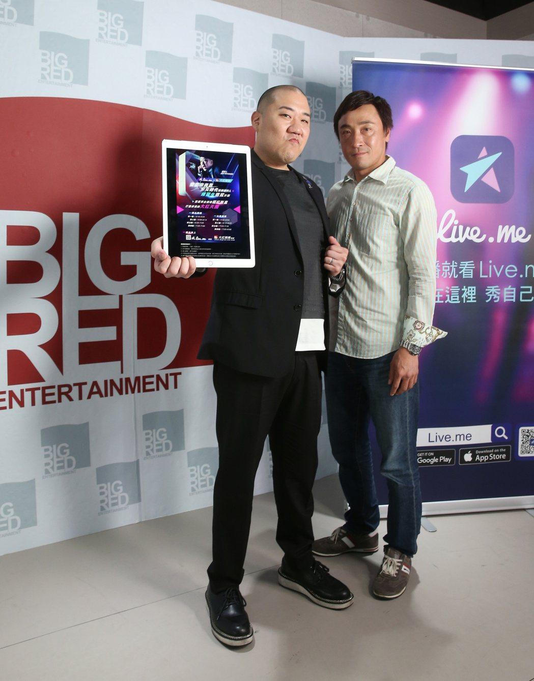 日本音樂人 Jeff Miyahara (左)與坪井清治(右)專訪。記者陳立凱/...