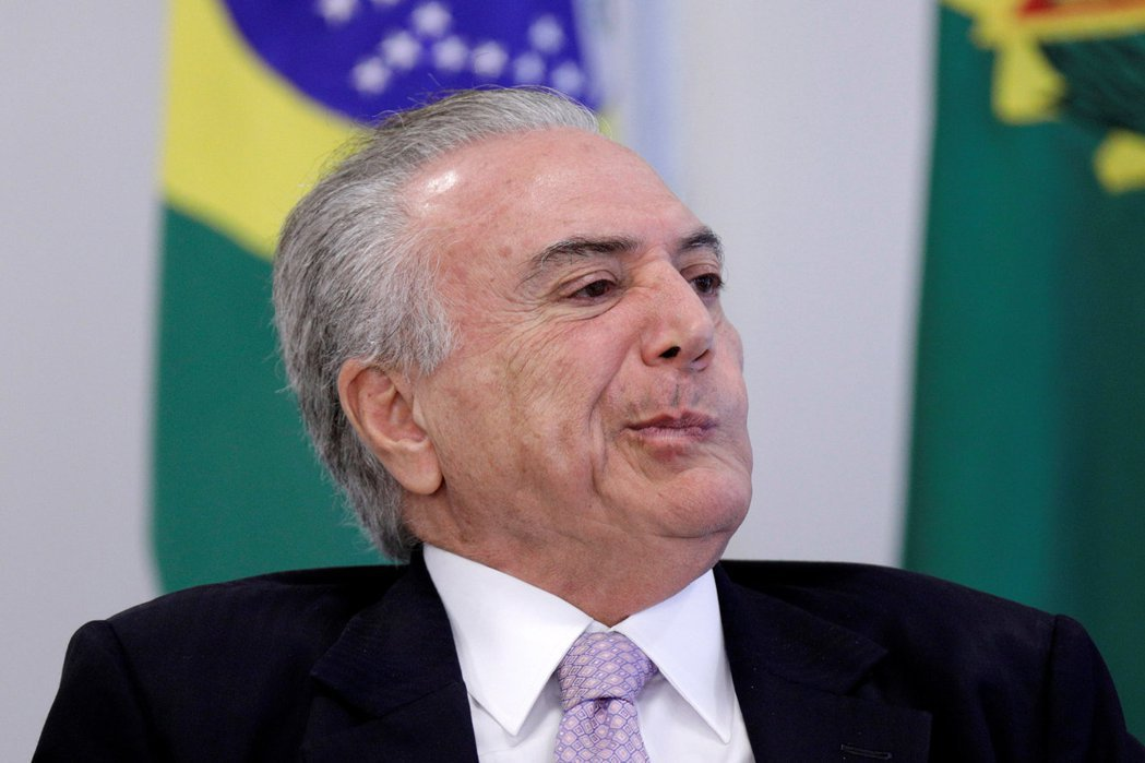 巴西總統泰梅爾。路透