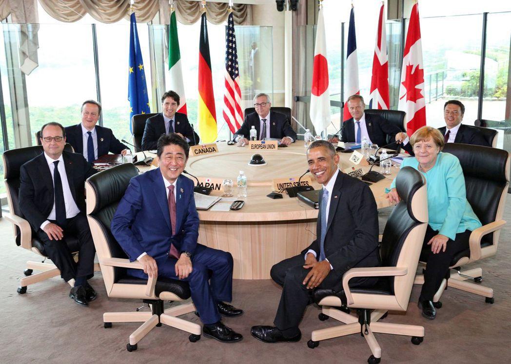 川普將參加G7高峰會,圖為去年G7峰會檔案照。 歐新社