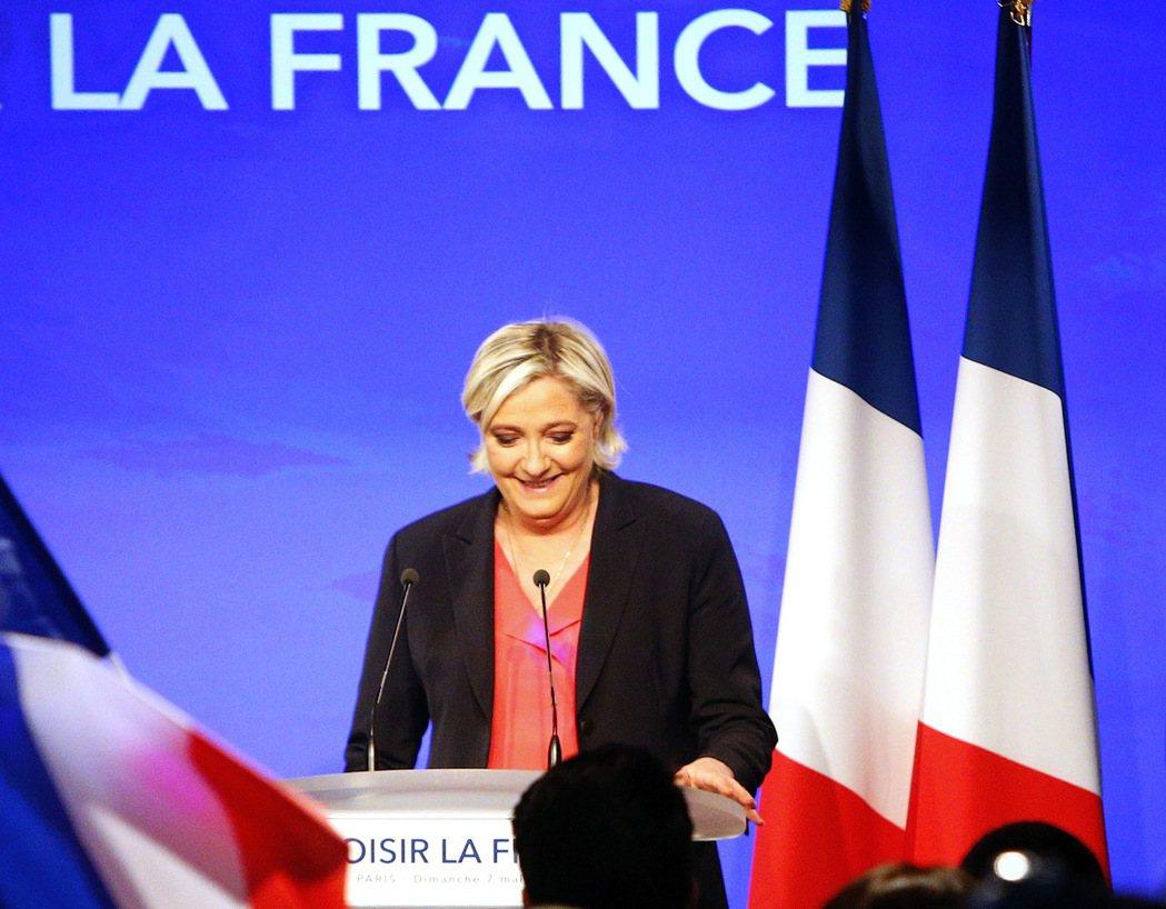 法國極右派政黨民族陣線(FN)主席瑪琳.雷朋當選國會議員。 美聯社資料照片